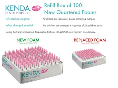 KENDA - packaging change - new 100pcs. foams